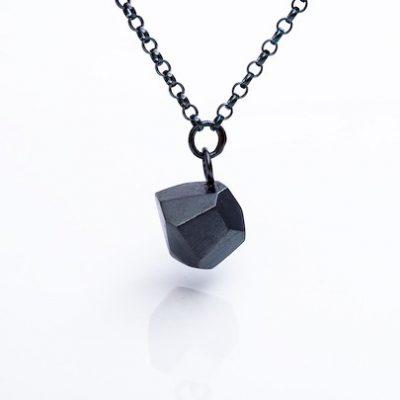 Facet Black Apple Necklace