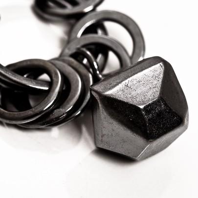 Facet Oxidised Bracelet