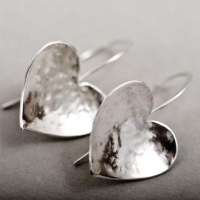 Solo Heart Drop Earrings