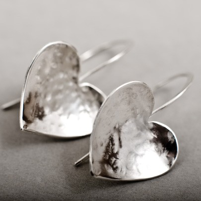 Solo Heart Drop Earrings