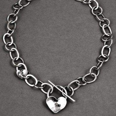 Solo Heart TBar Necklace