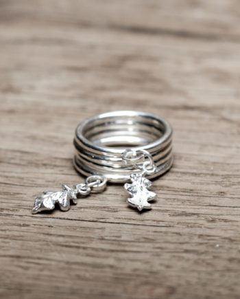 Catching the Oak Leaf Stacking Rings