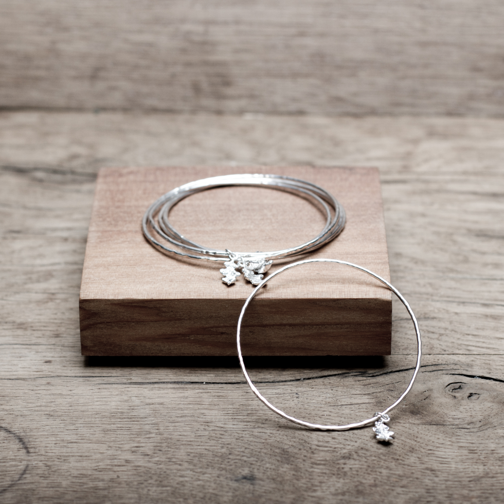 Catching the Oak Leaf Stacking Bangles