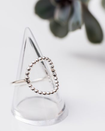 Beaded Circular Ring