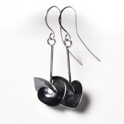 Soul in Link Oxidised Long Earrings