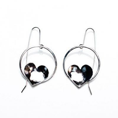 Solo Heart Hoop Earrings
