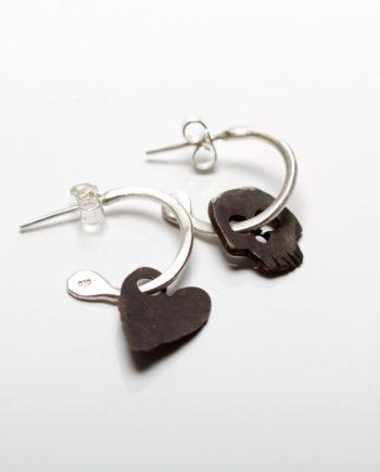 Good and Evil Hoop Earrings