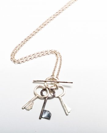 Keepers One Black Key Necklace