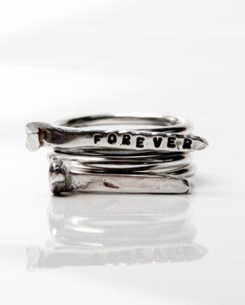 Love nail and I Stack Ring