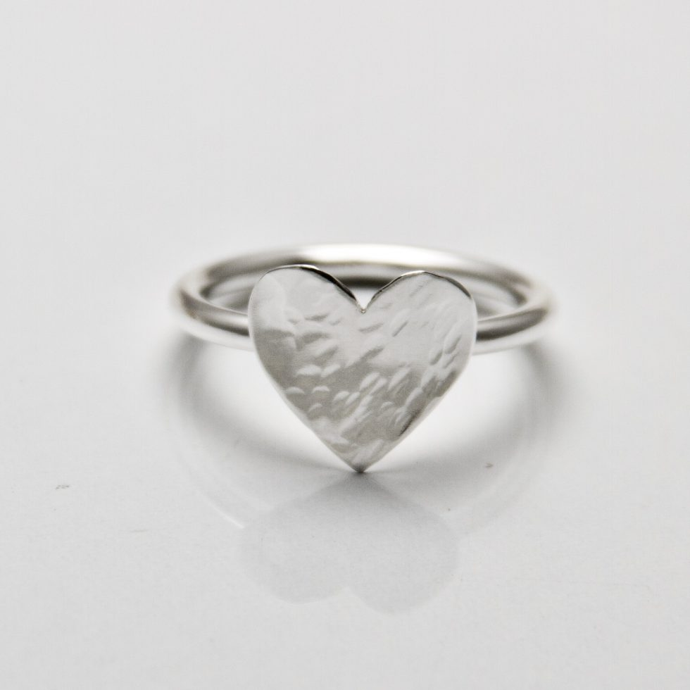 Solo Heart Stack Ring